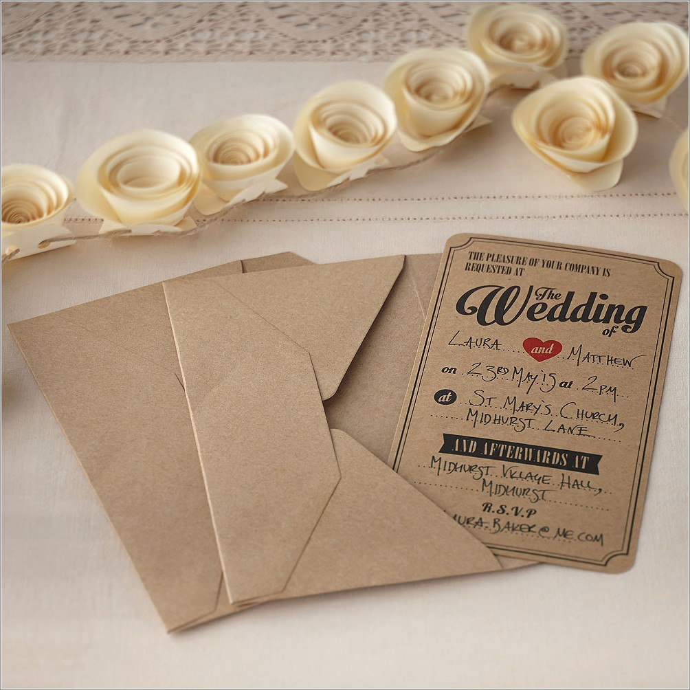 Vintage Wedding Invitations Uk