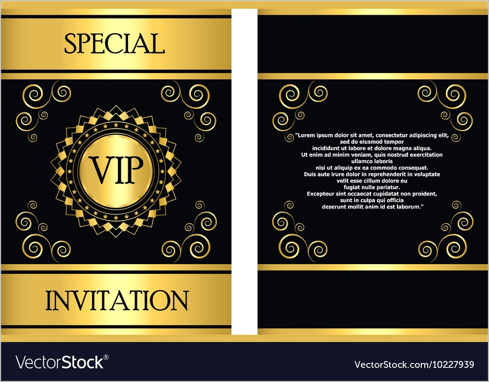 Vip Invitation Template Free