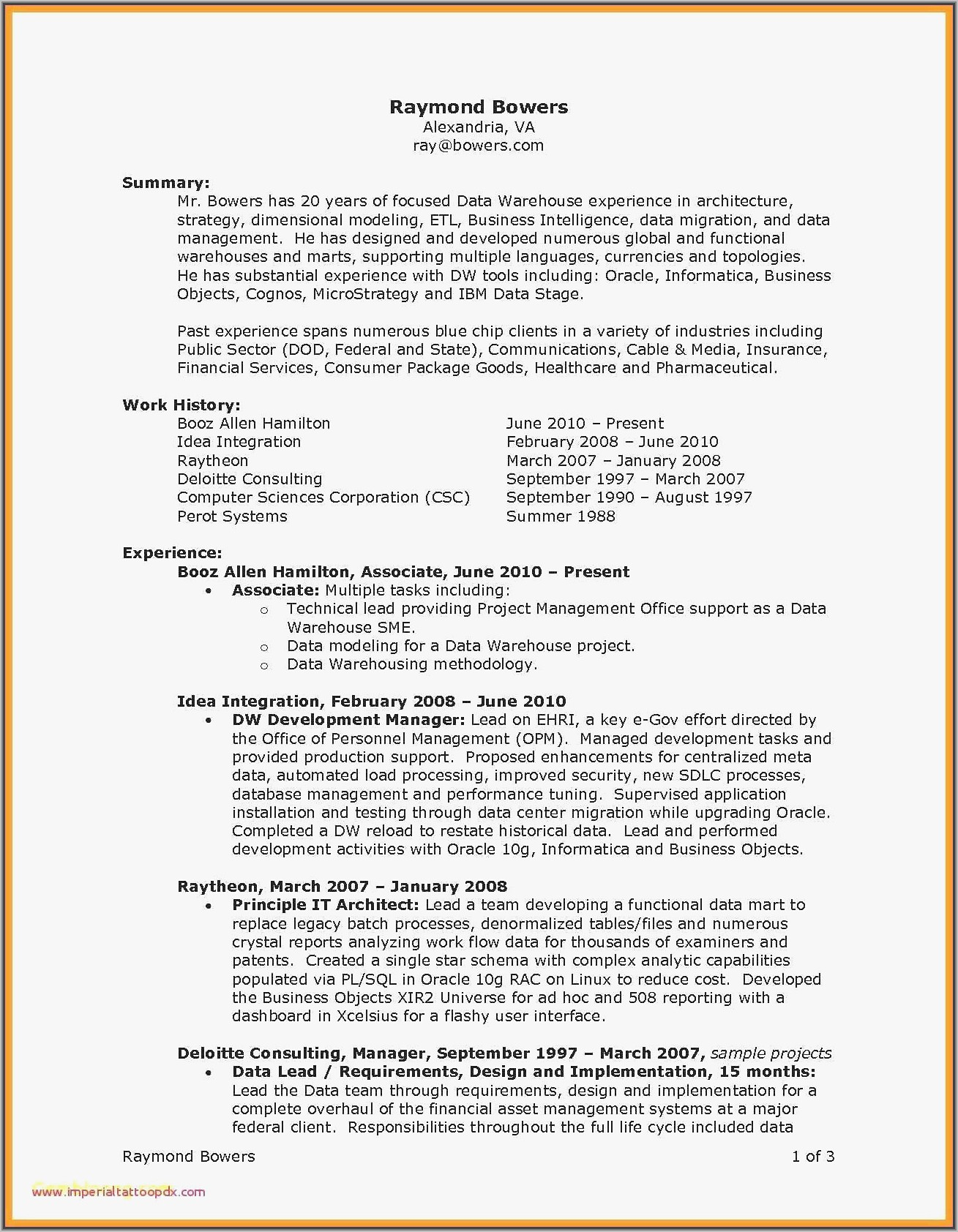 Warehouse Lead Resume Sample