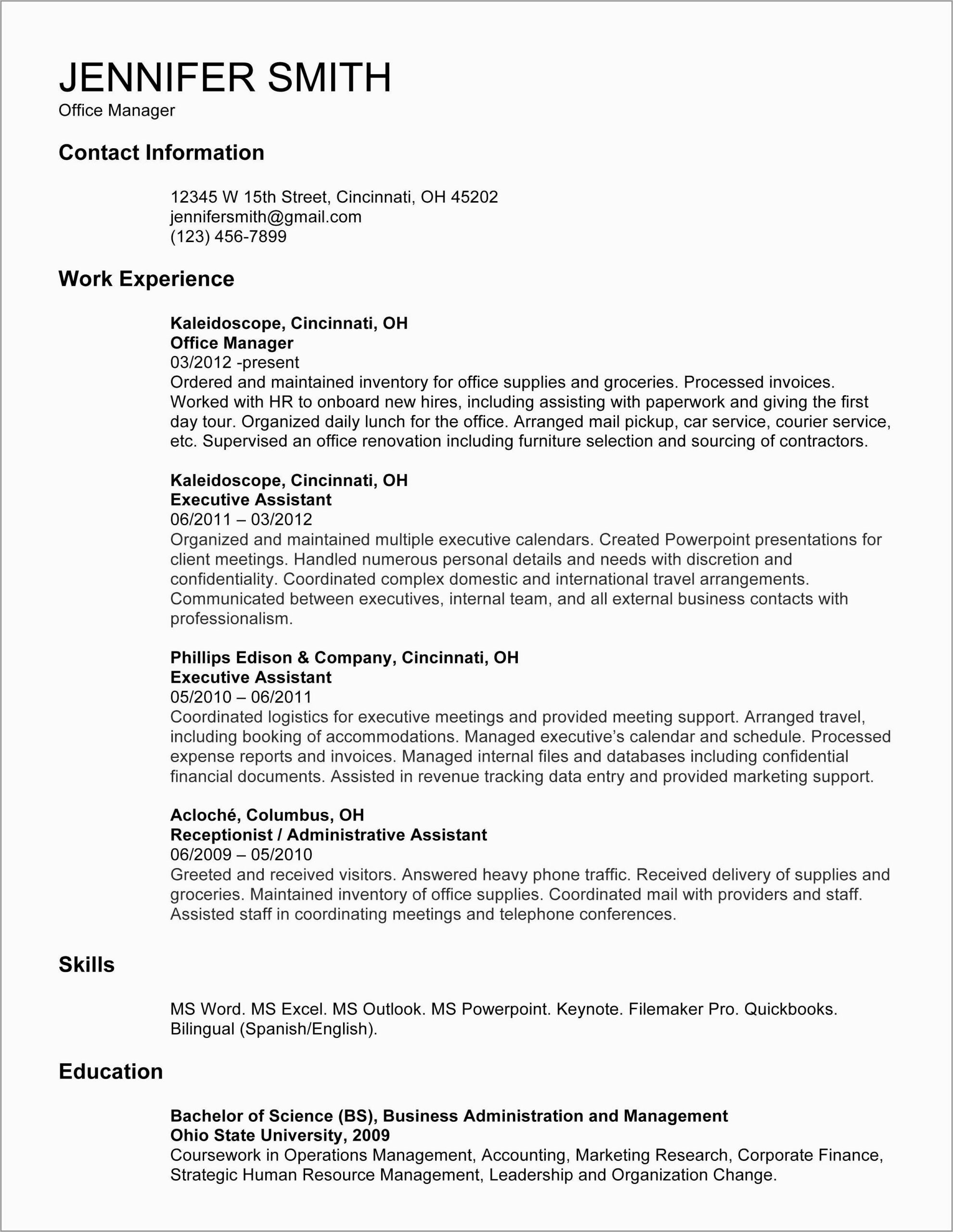 Warehouse Supervisor Resume Format