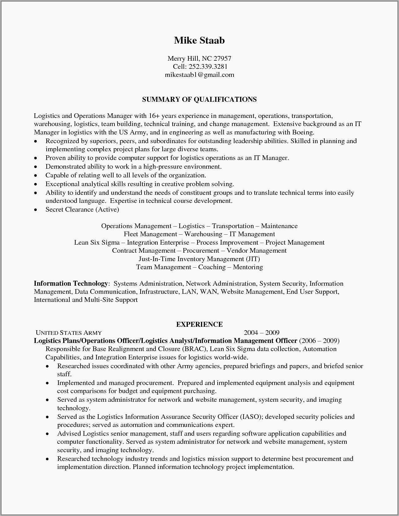 Warehouse Team Lead Resume Example