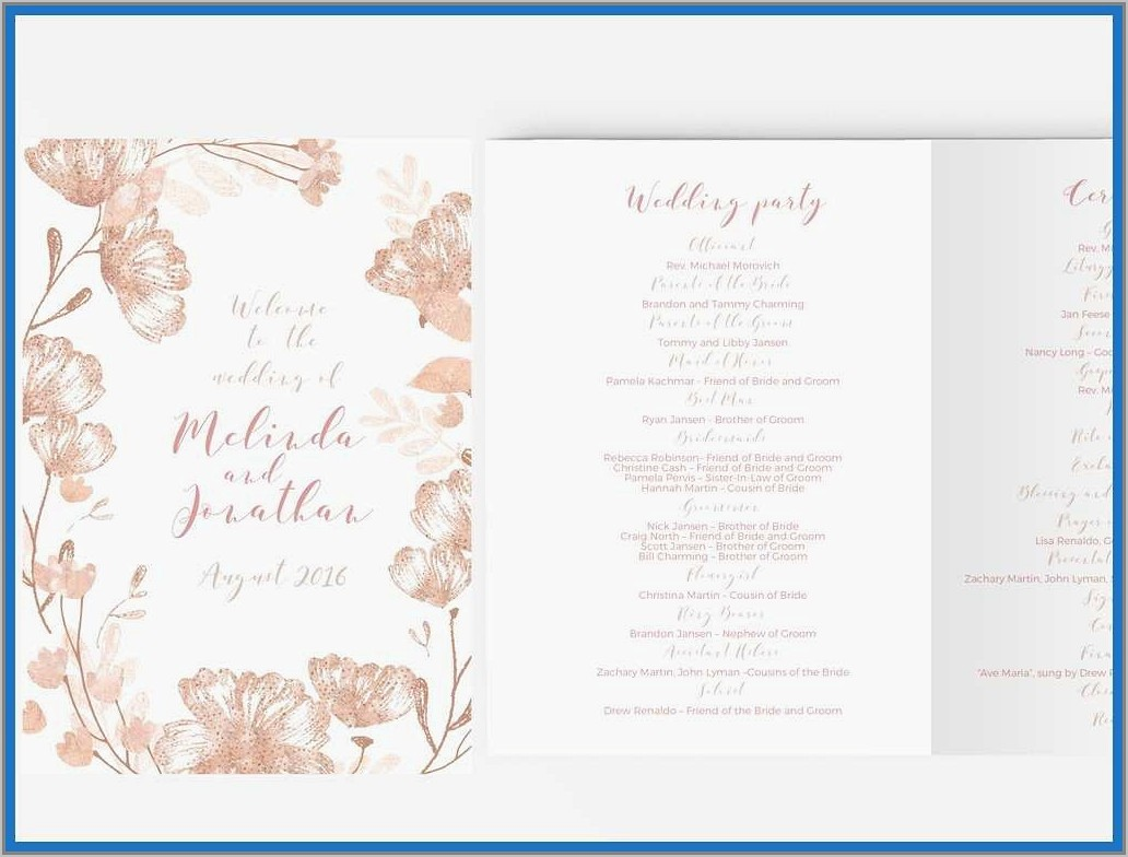 Wedding Booklet Template Download Free