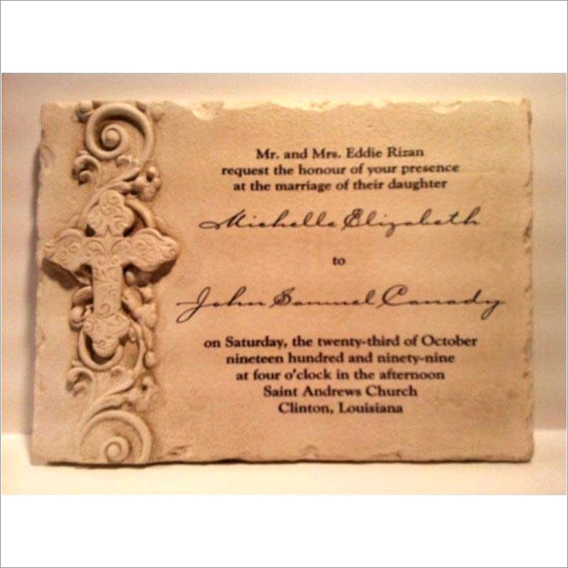 Wedding Invitation Stone Plaque