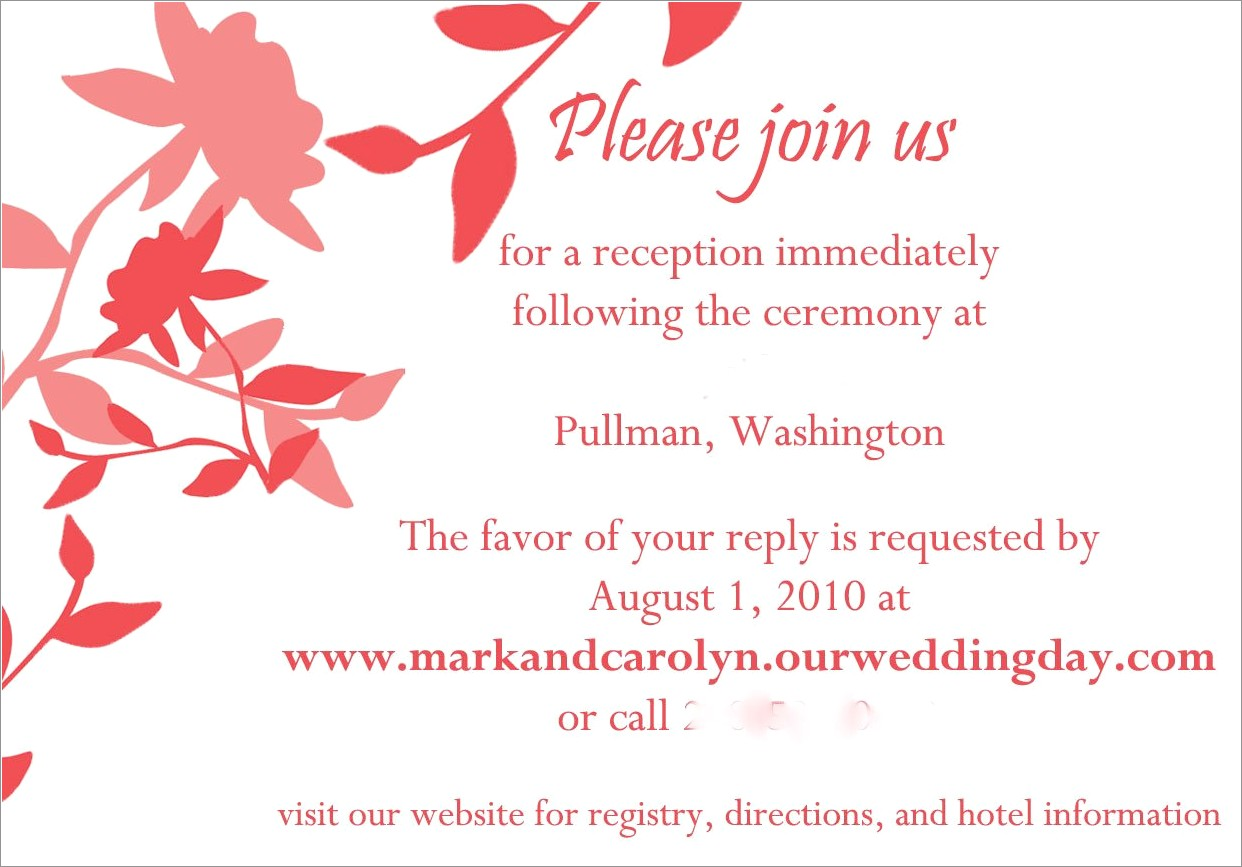 Wedding Invitation Templates For Sisters Marriage