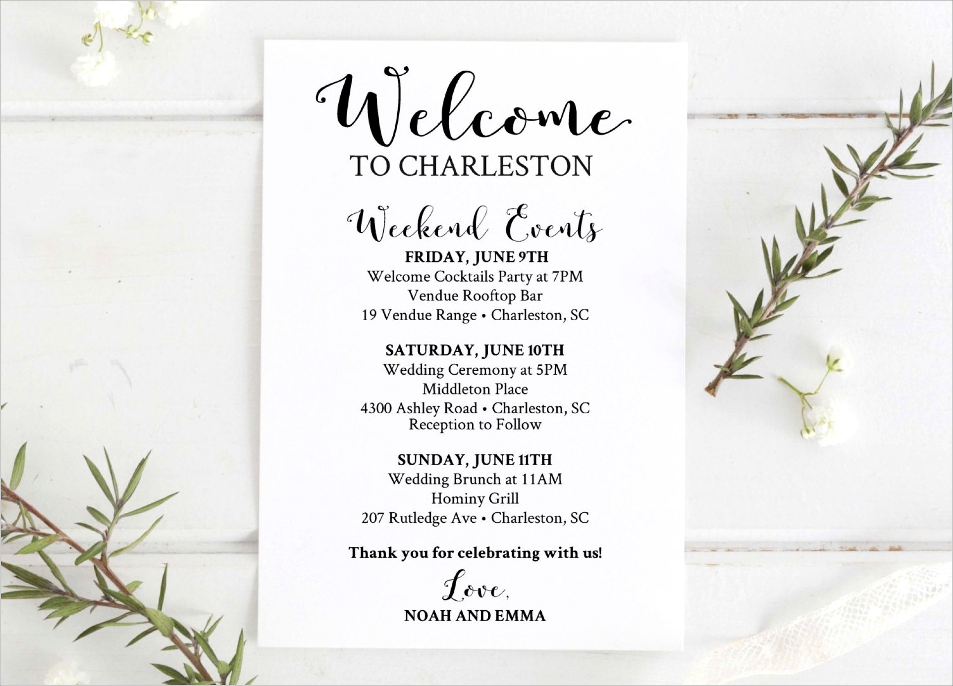 Wedding Welcome Letter Template Free