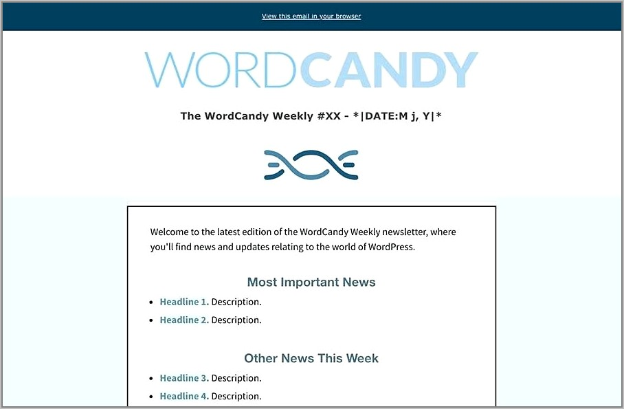 Weekly Email Newsletter Template