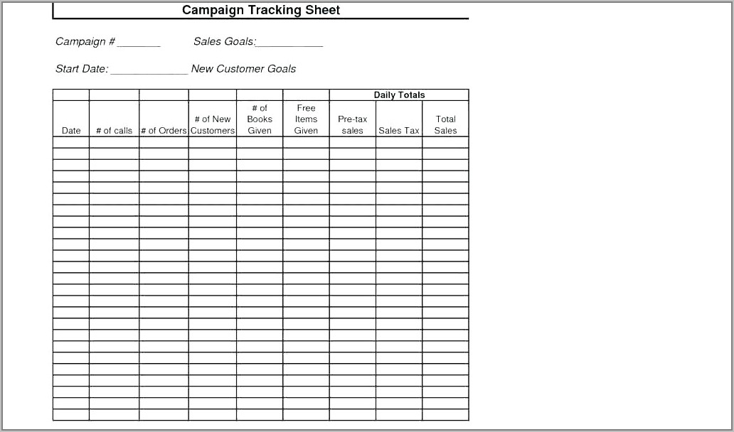 Weekly Sales Call Planning Template