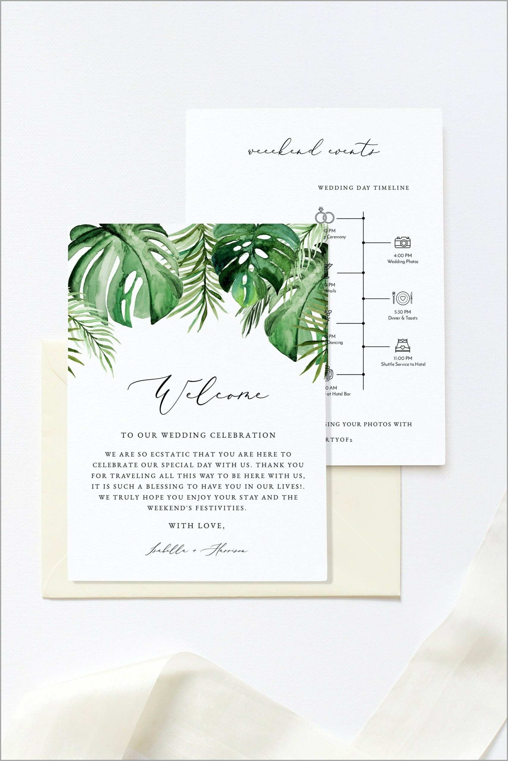 Welcome Letter Destination Wedding Template