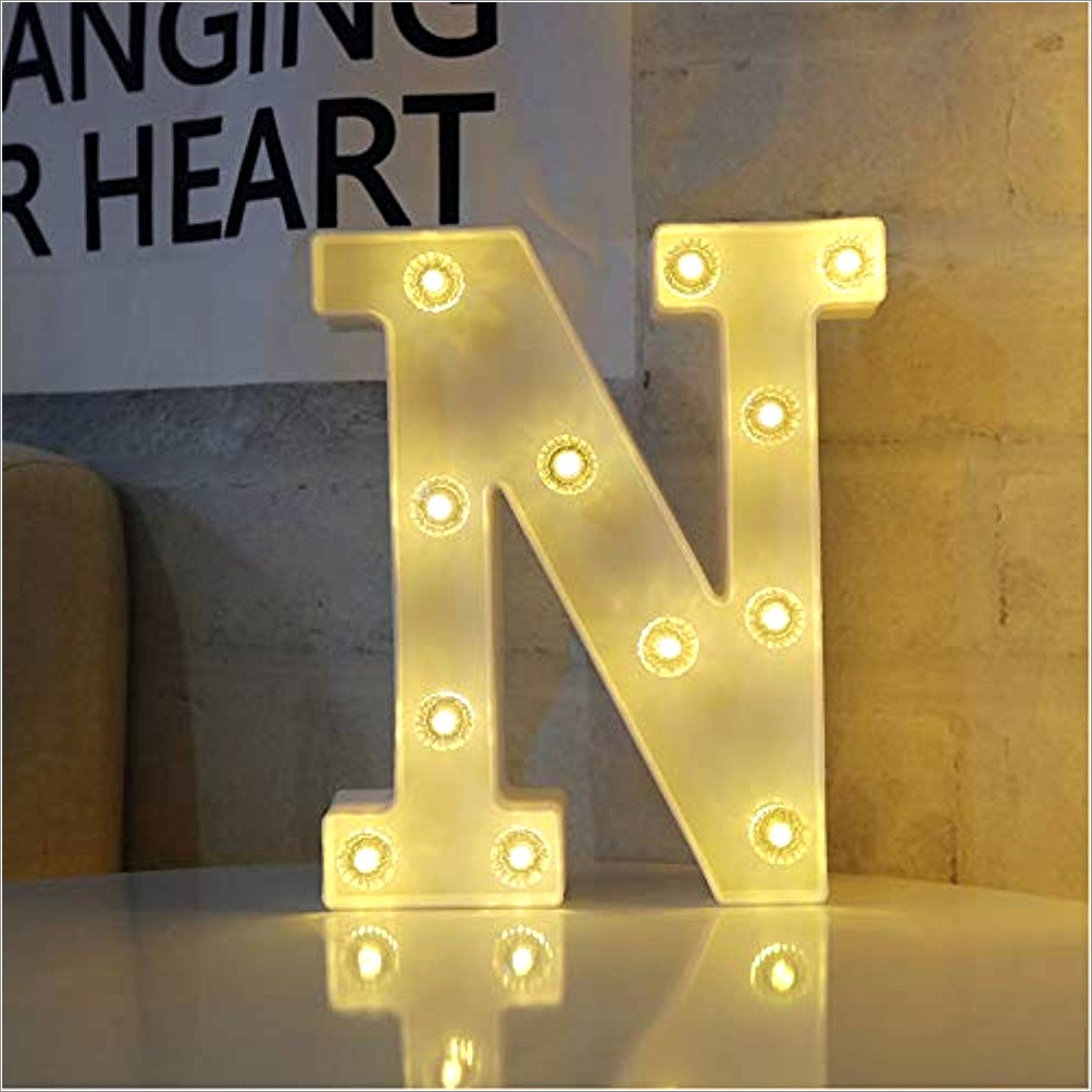 White Marquee Letters With Lights