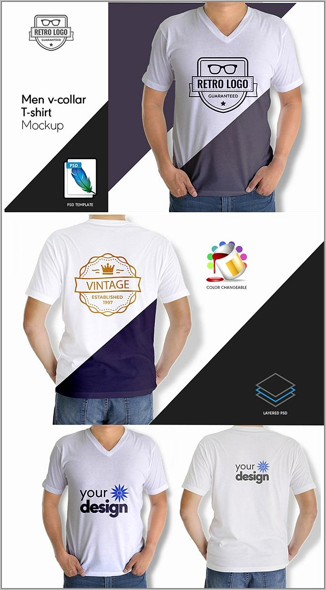 White T Shirt Mockup Template Free Download