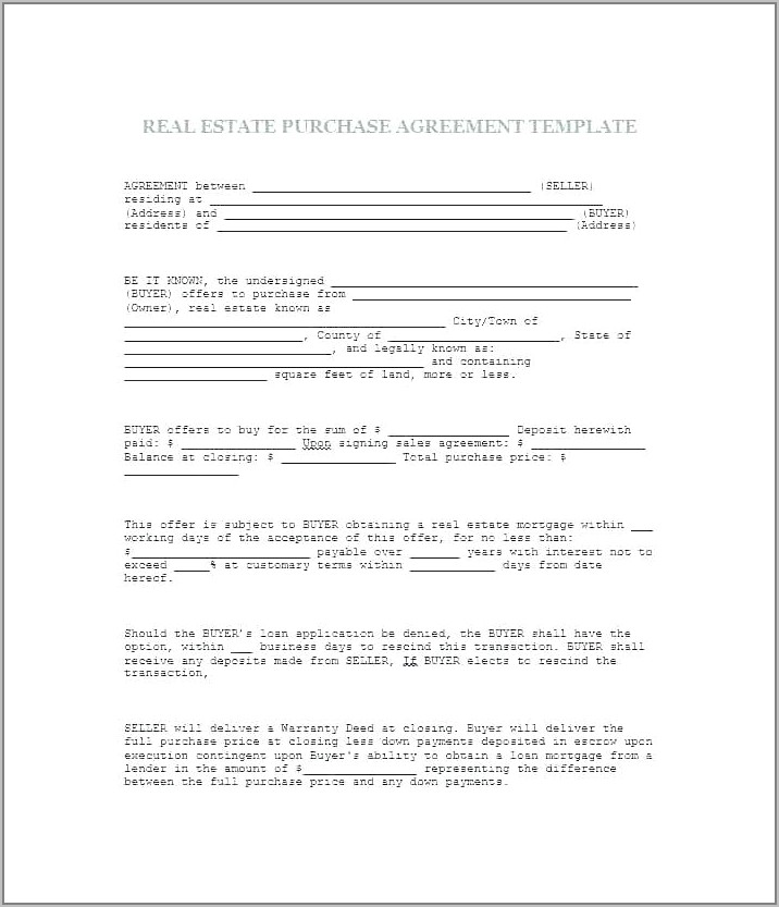 Wholesale Real Estate Assignment Contract Template