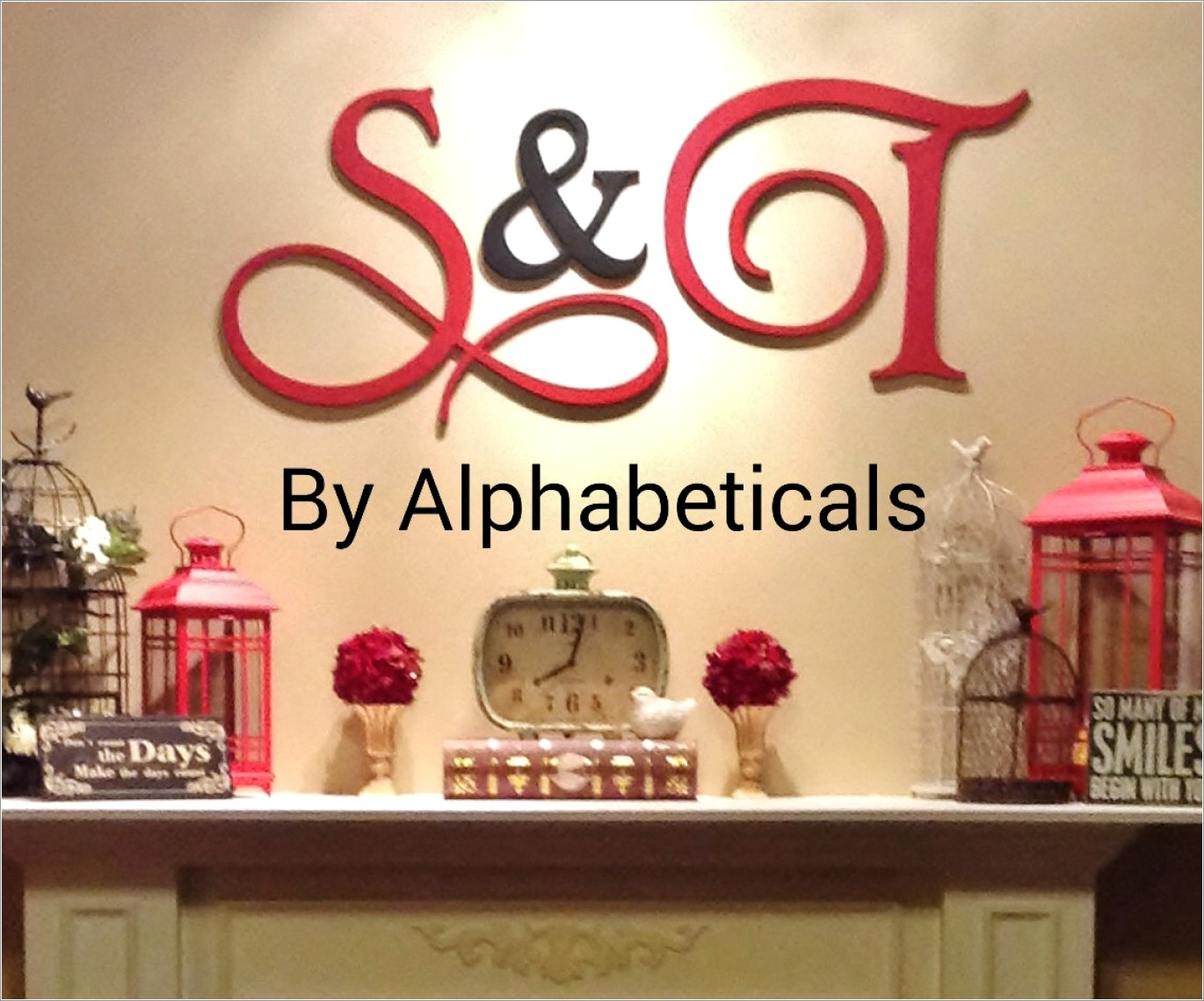 Wooden Letter Decorating Ideas