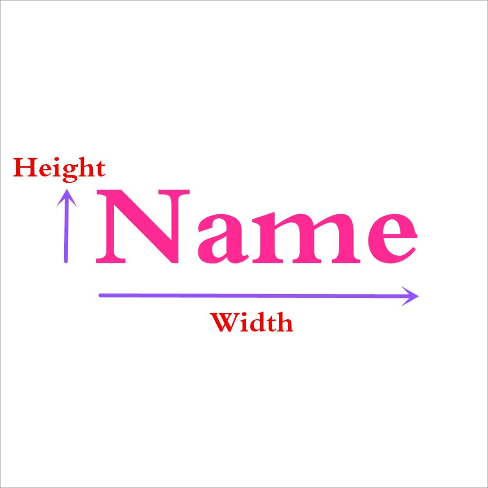 Wooden Letter Name Signs