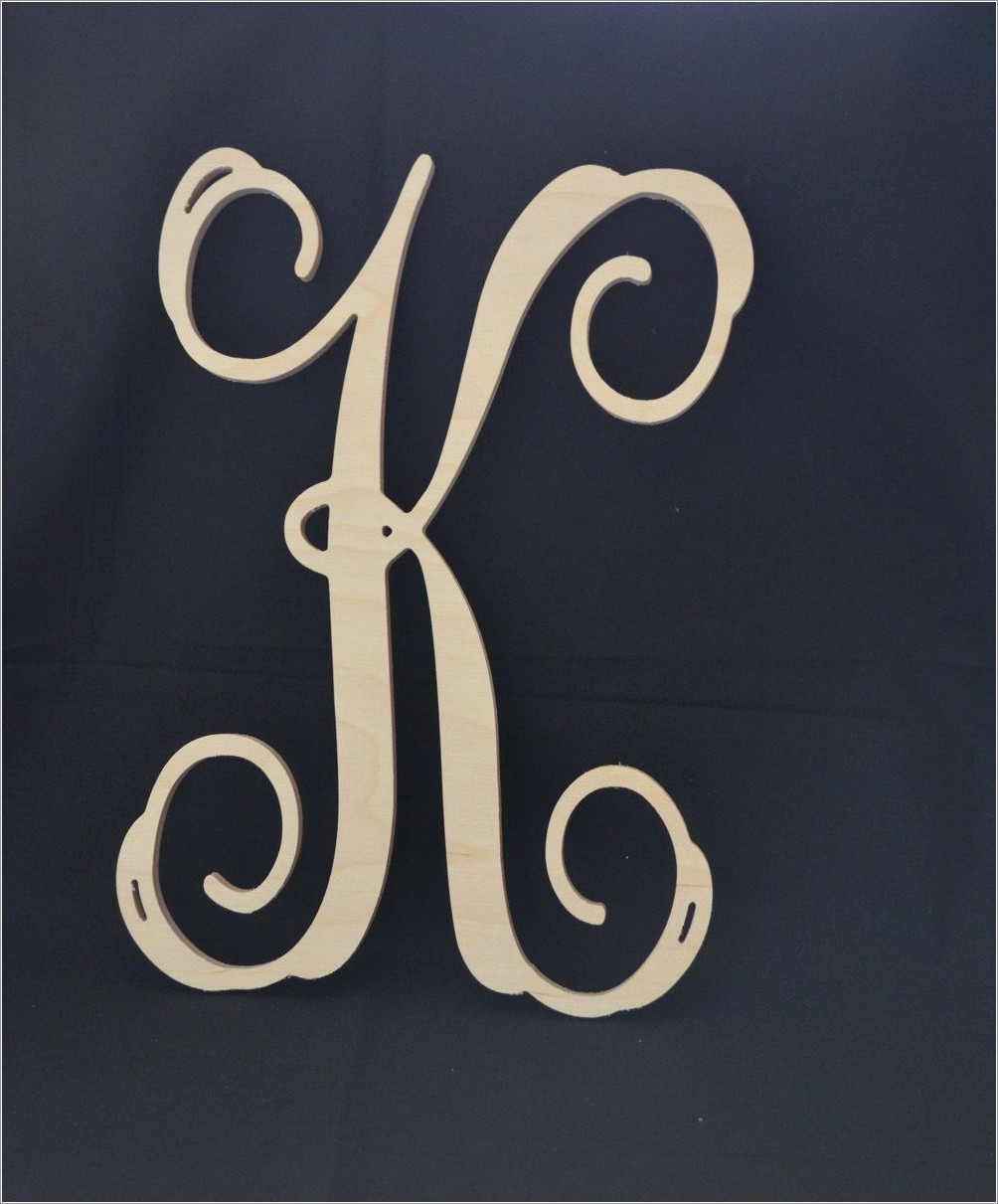 Wooden Monogram Letters For Wall