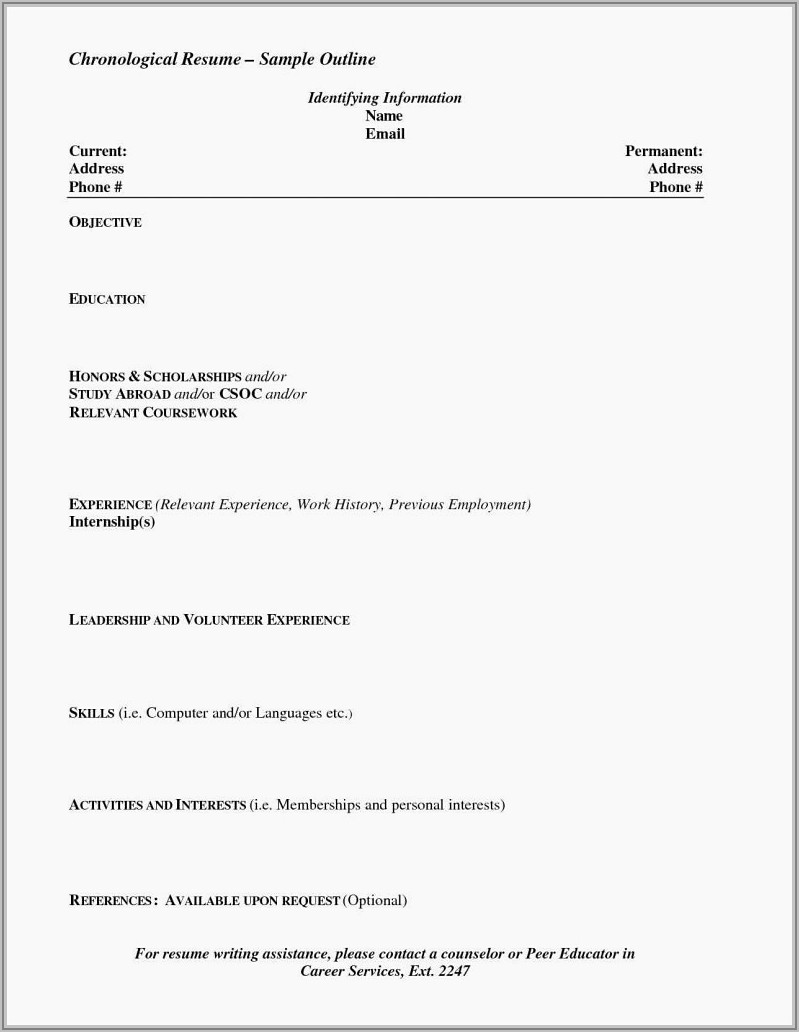 Word Document Resume Format Download