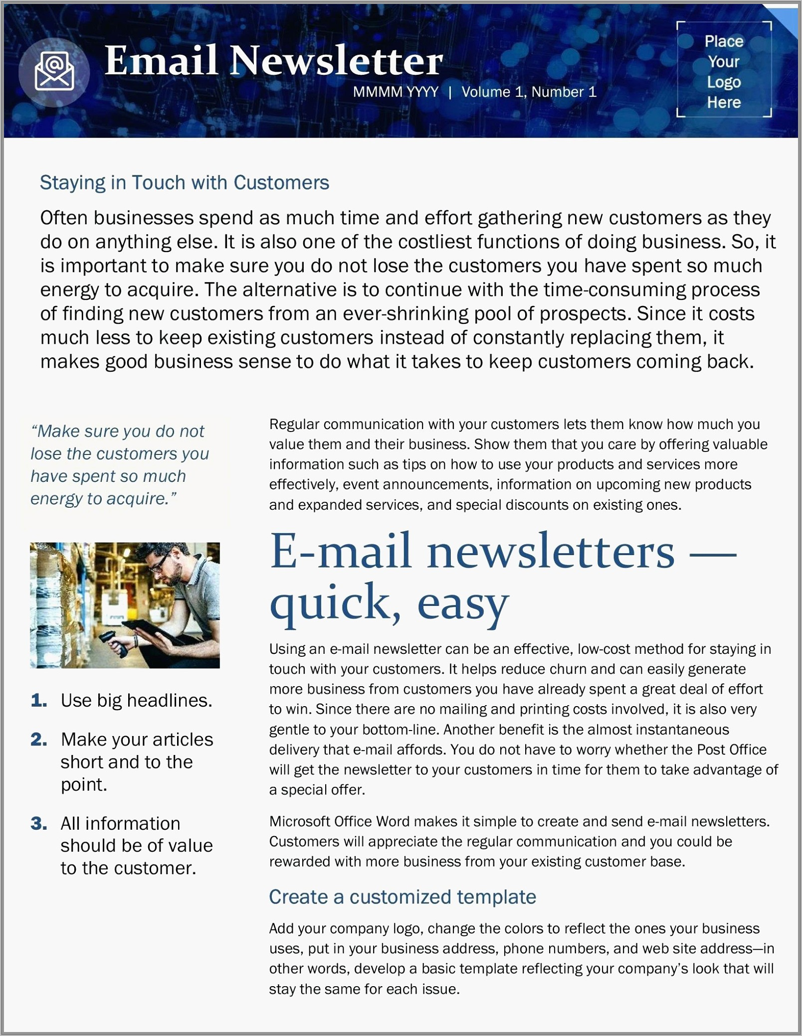 Word Email Newsletter Templates Free
