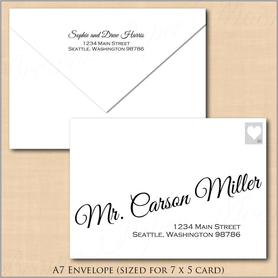 Word Template To Print On Envelope