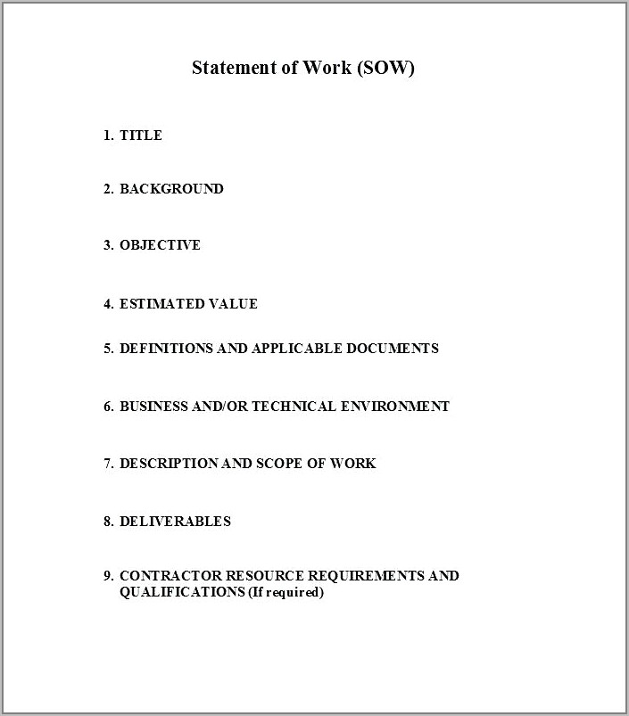 Work Contract Template South Africa
