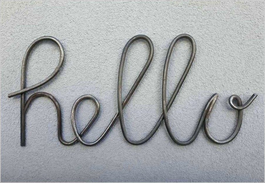 Wrought Iron Letters For Signs