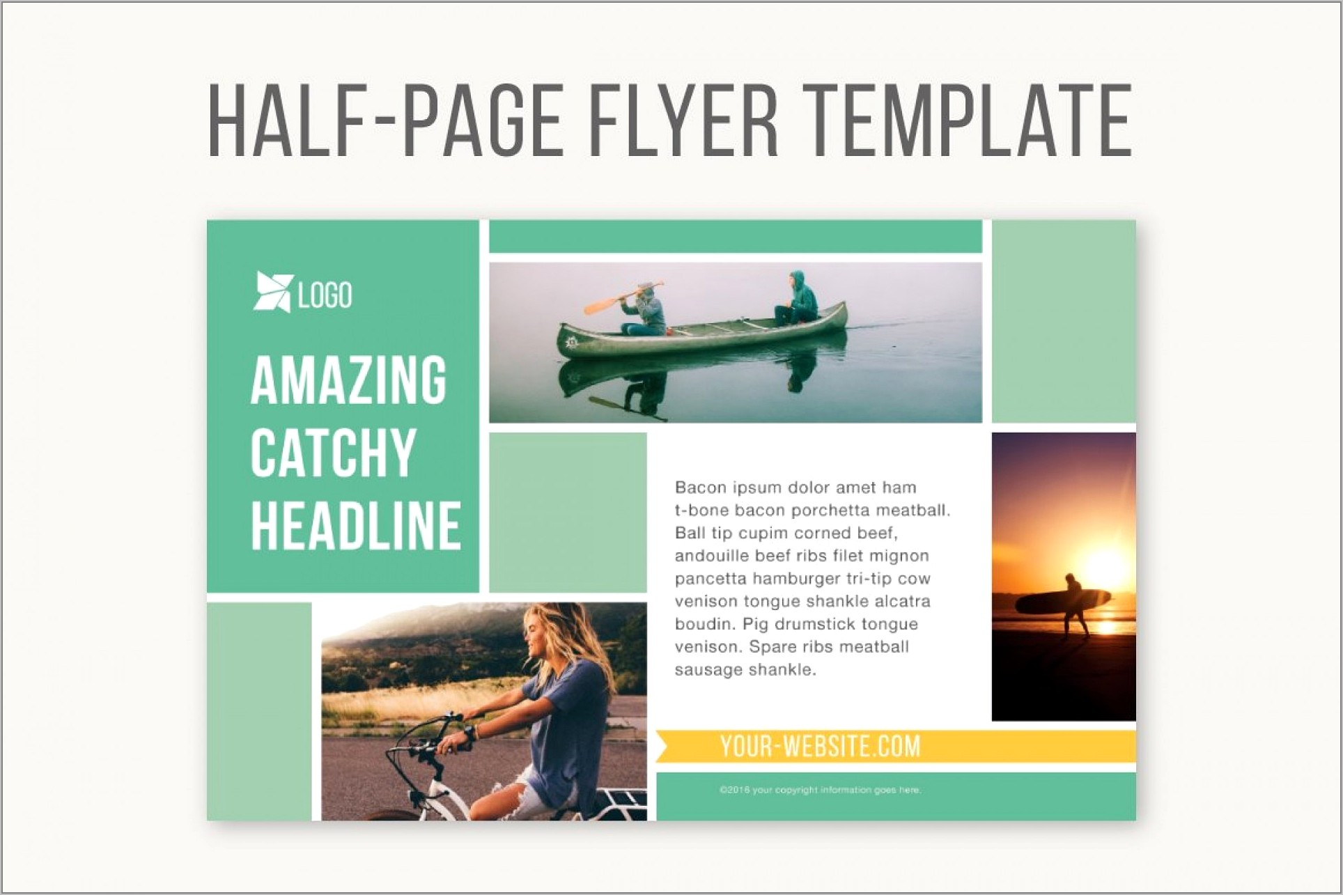 Yearbook Ad Layout Template