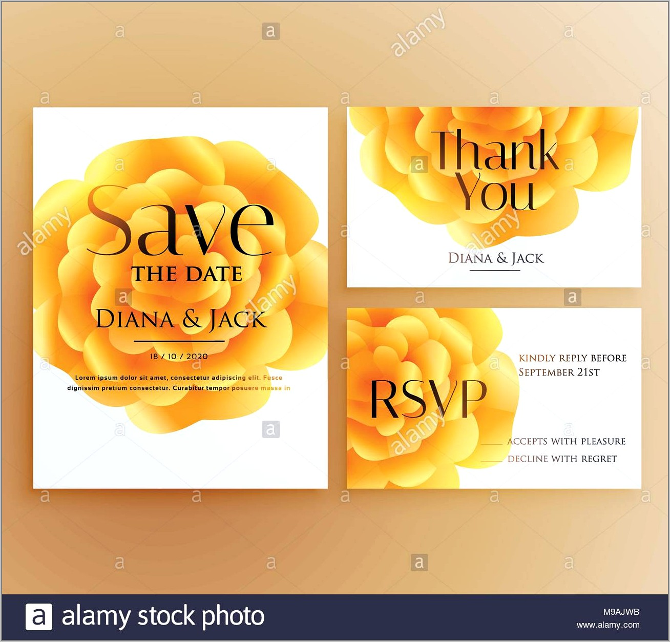 Yellow Flower Invitation Template