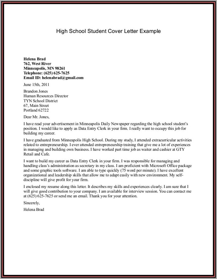 Youth Central Sample Resumes And Cover Letters
