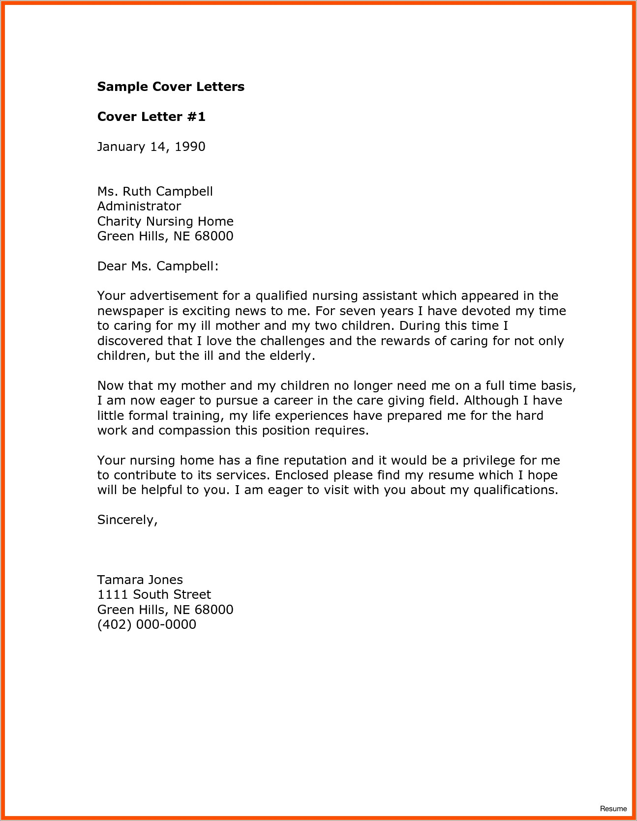 Youth Worker Cover Letter No Experience