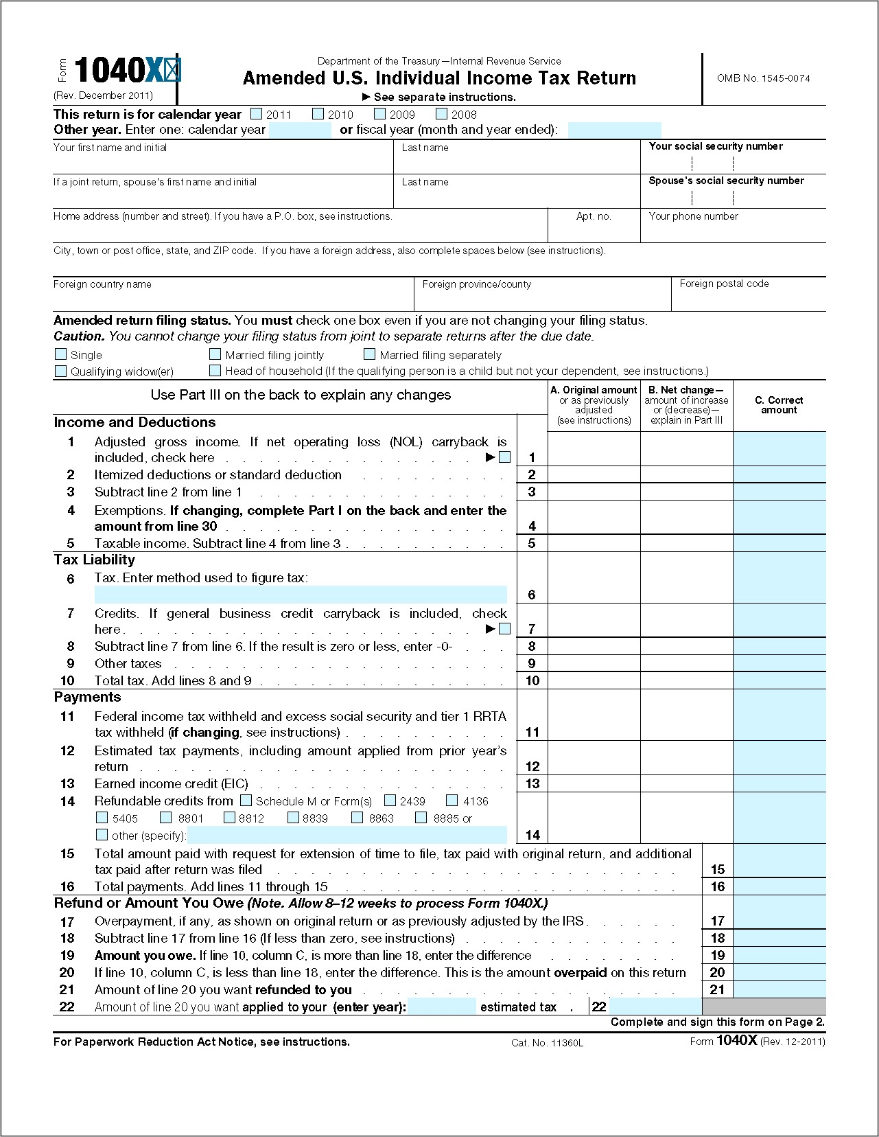 1040 Tax Form 2009 Instructions