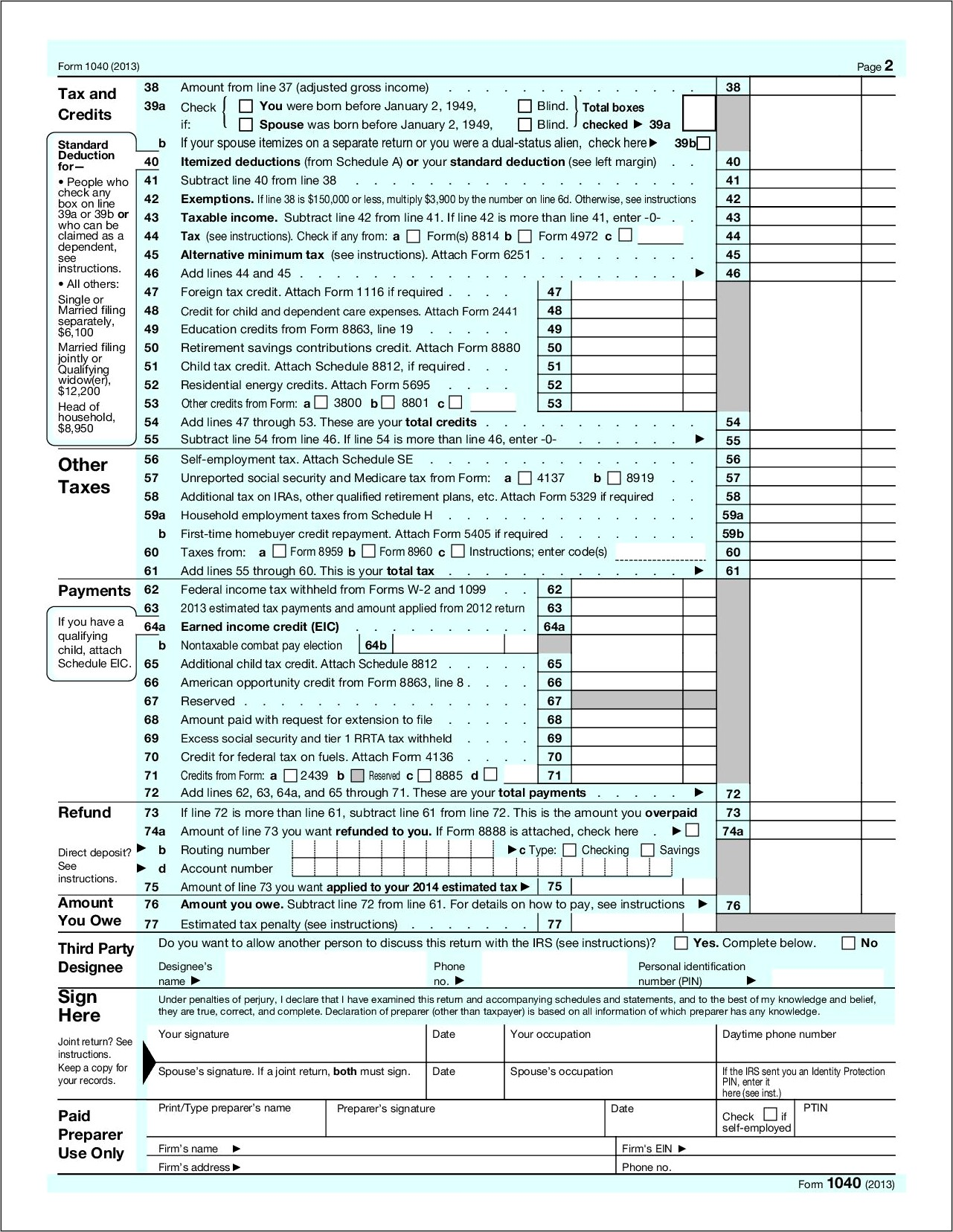 1040 Tax Form 2014 Schedule D