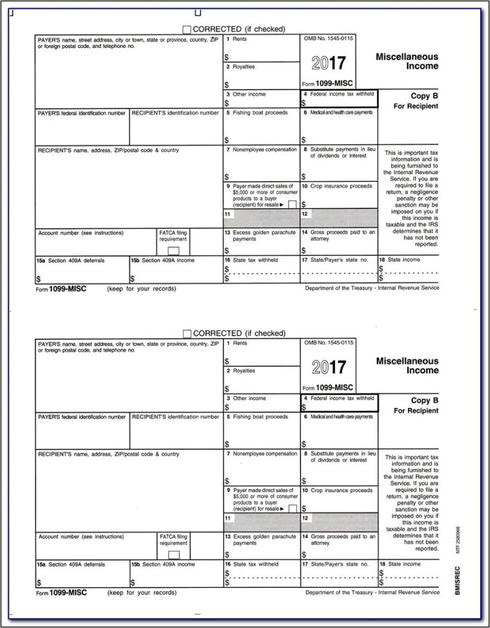 1099 Misc Online Form Free