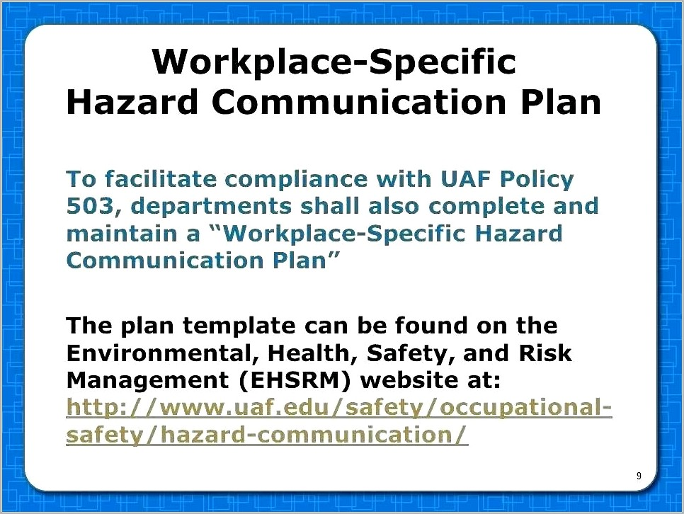 2016 Oshas Hazard Communication Program Template