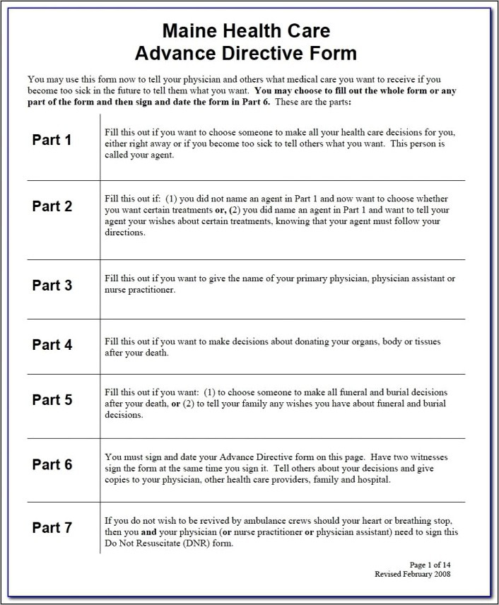 Advance Health Directive Forms Nsw
