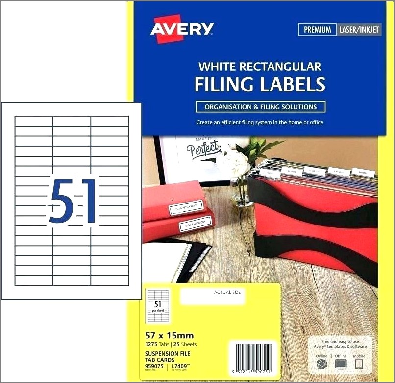 Avery Hanging File Folder Tabs Template