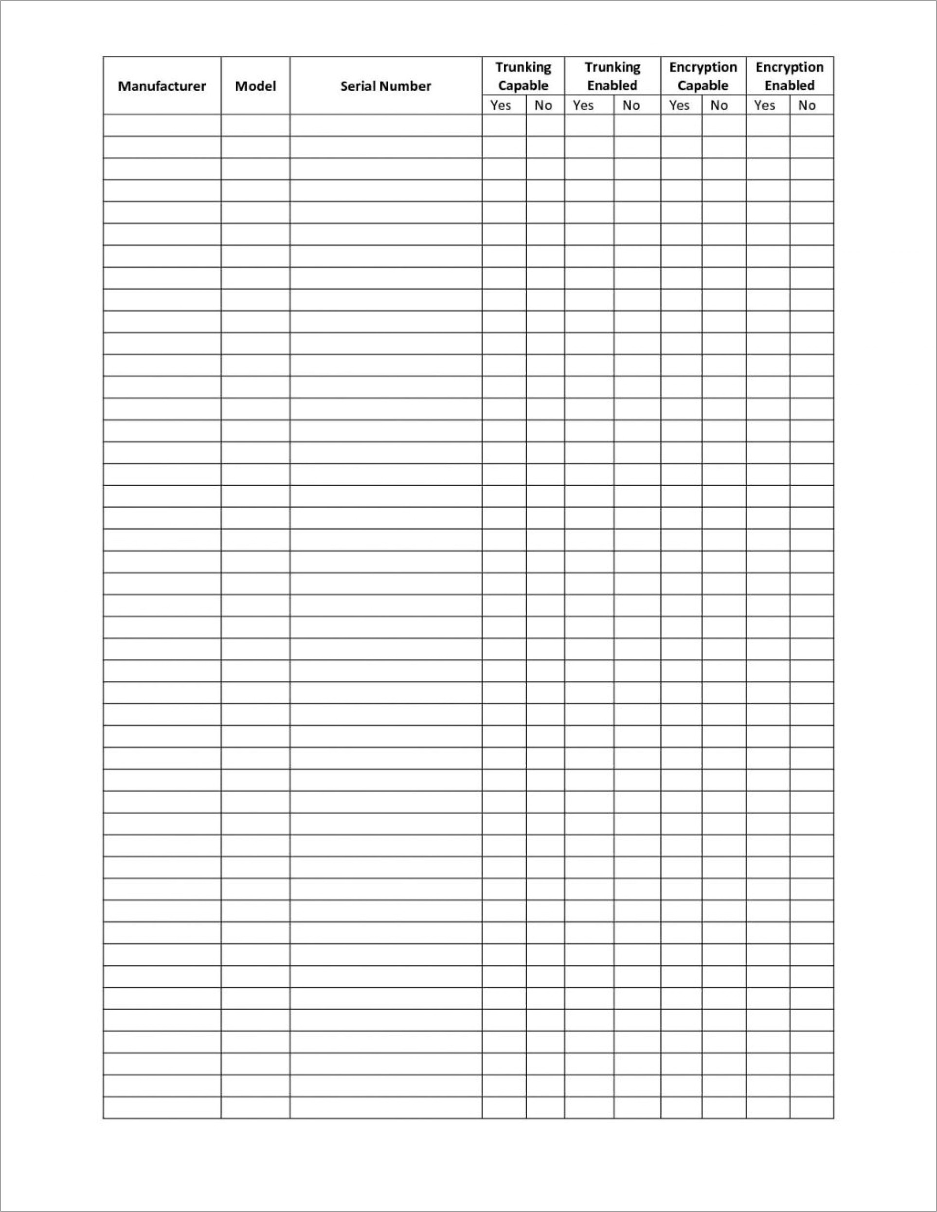 Business Inventory Spreadsheet Template Free