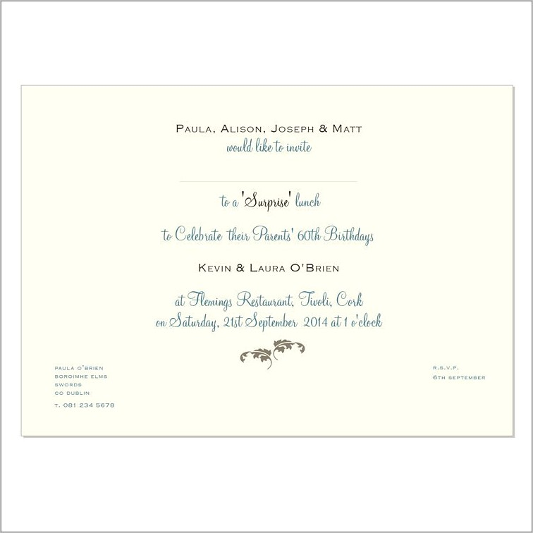 Business Lunch Invitation Email Template