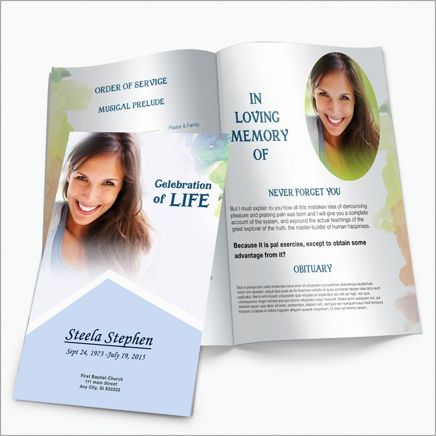 Catholic Funeral Booklet Template Free Download