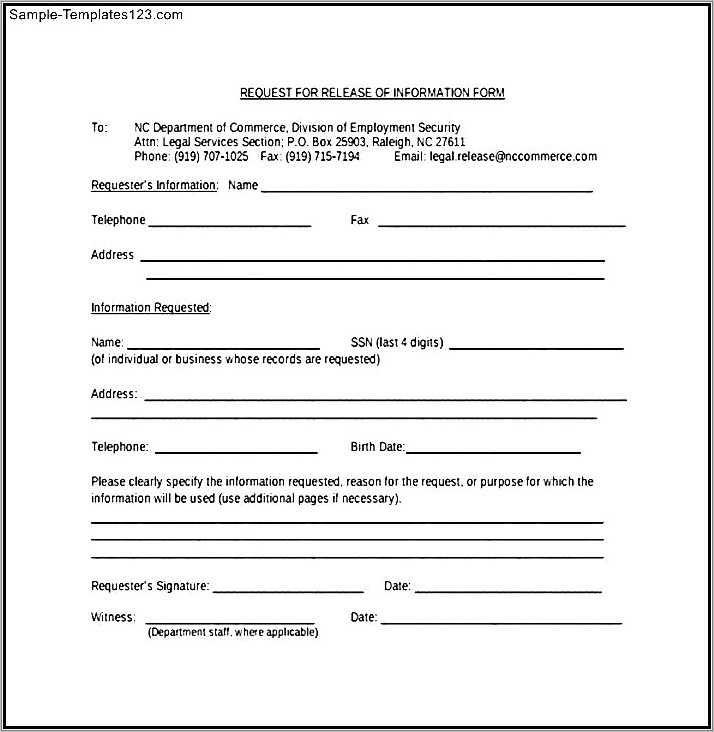 Childrens Medical Release Form Template