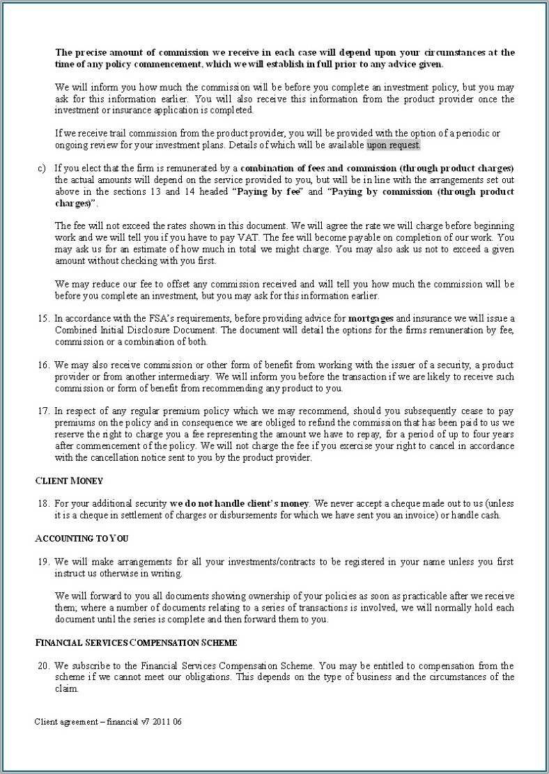 Commercial Mortgage Broker Fee Agreement Template