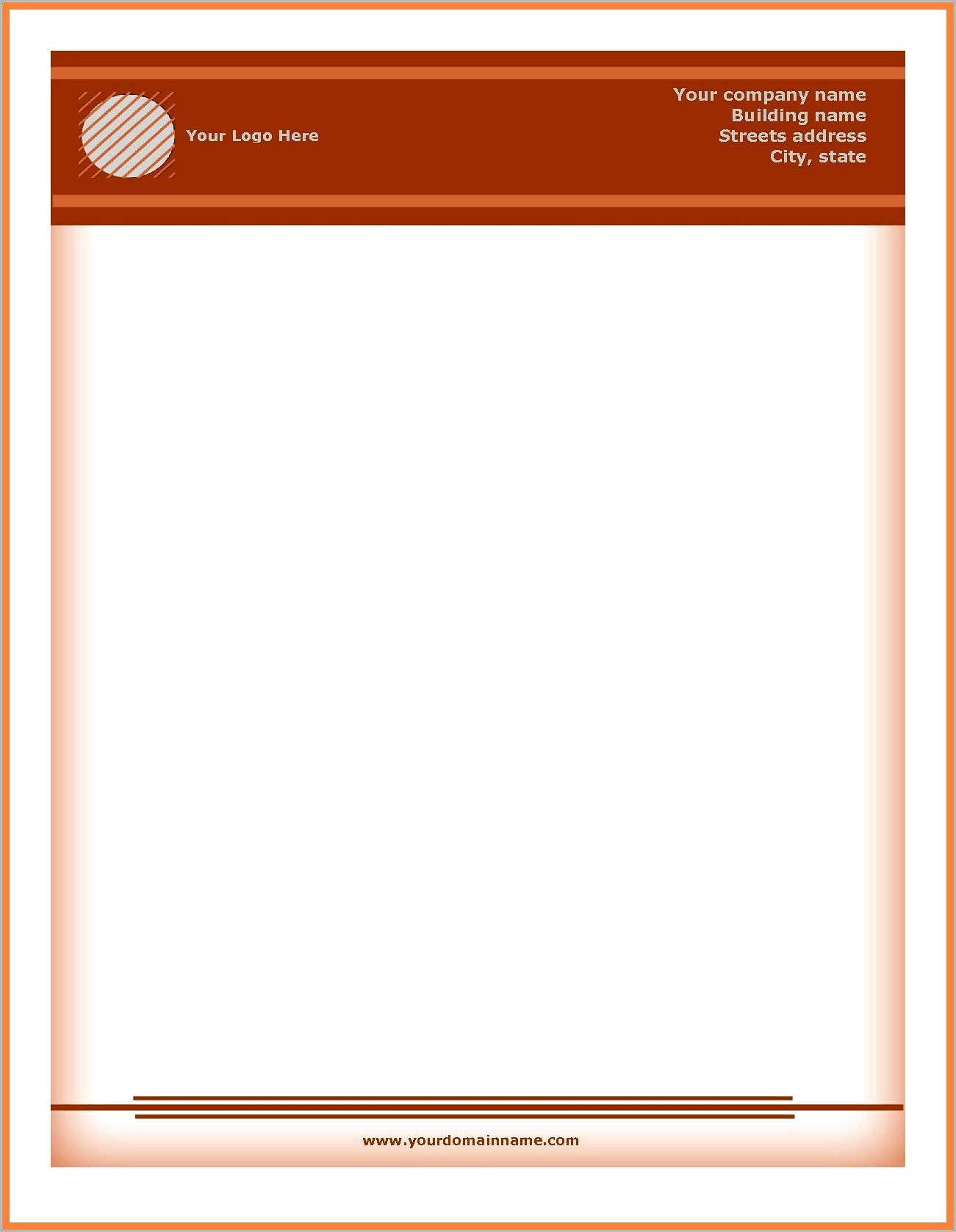 Company Letterhead Template Word Free Download