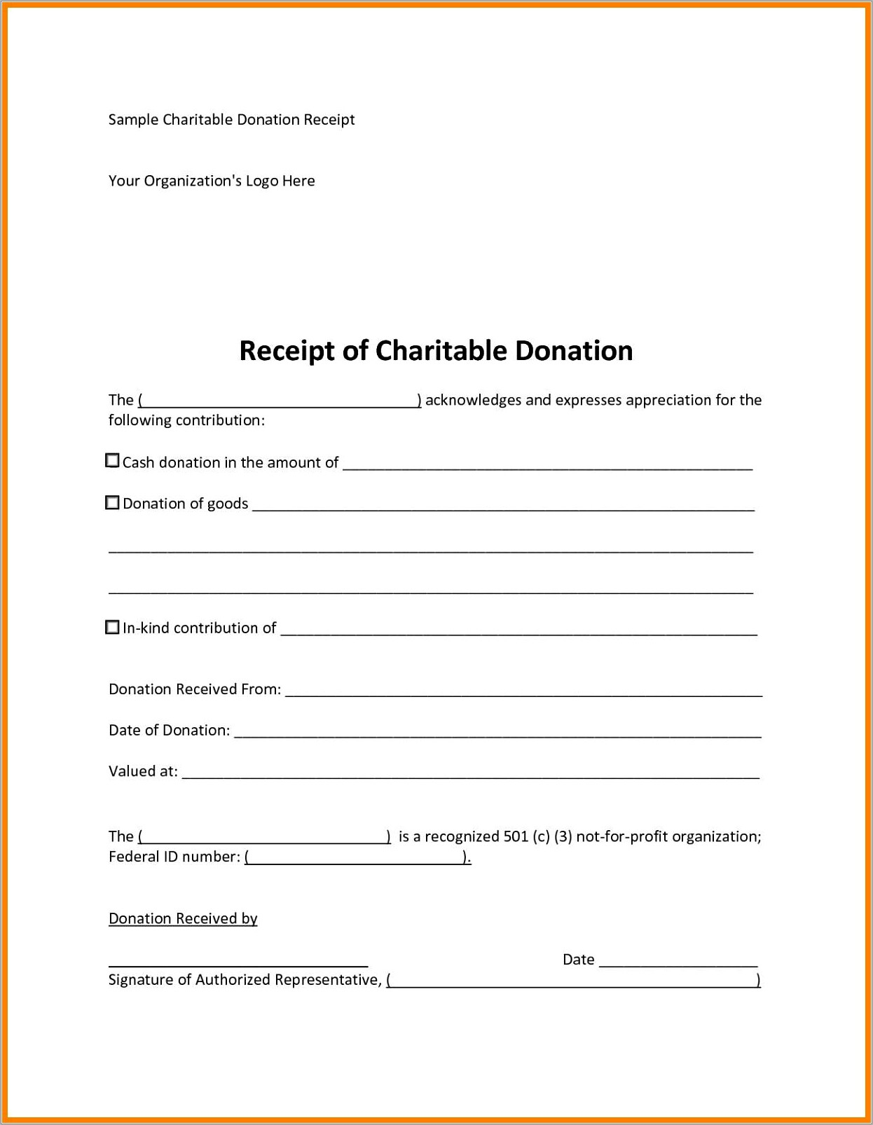 Donation Request Form Template Free