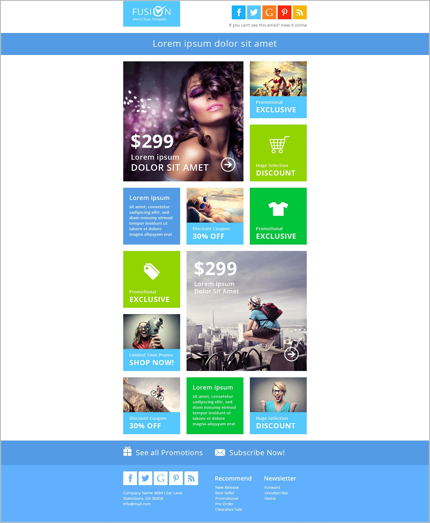 Email Newsletter Template For Outlook