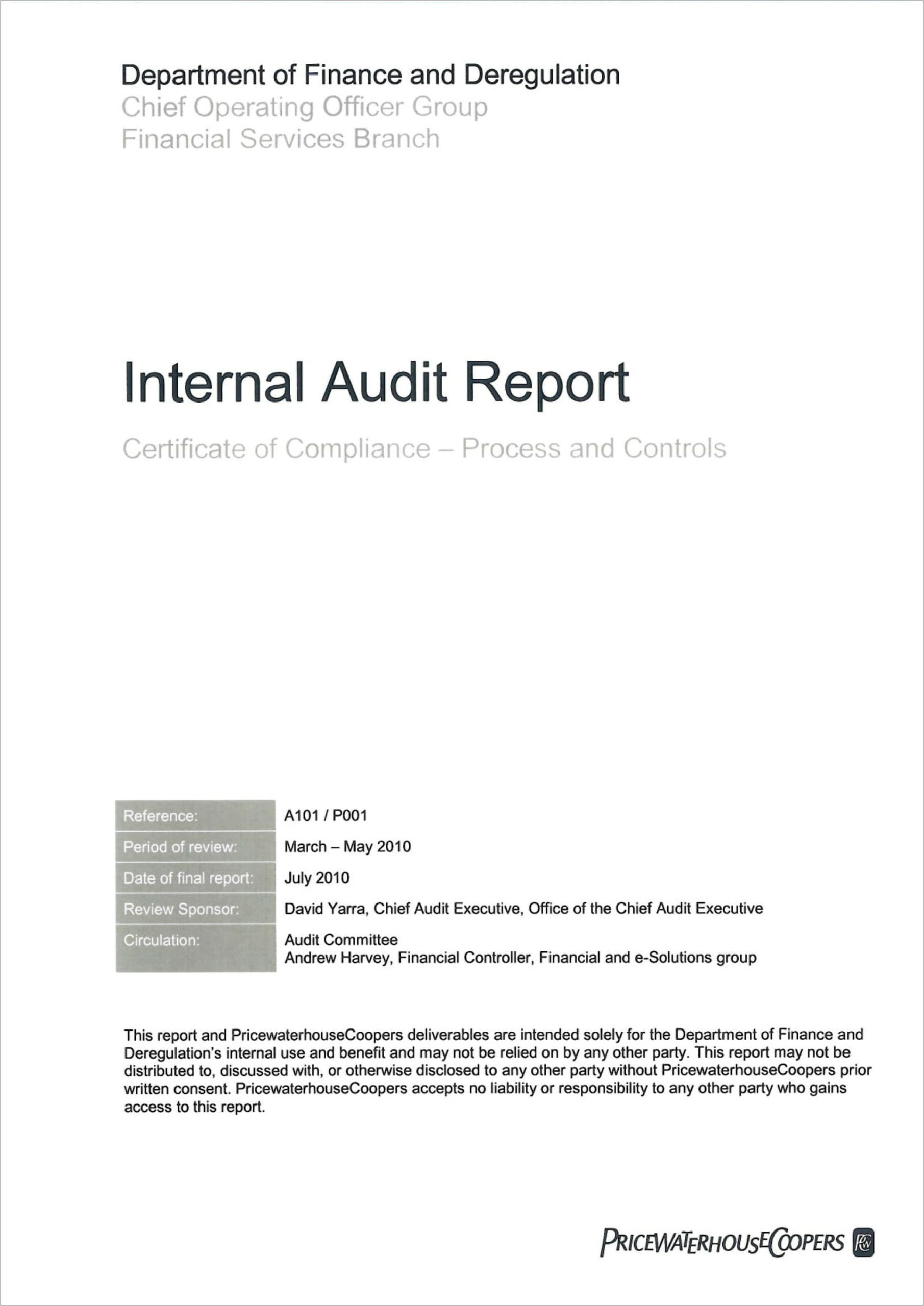 Example Internal Audit Report Iso 9001
