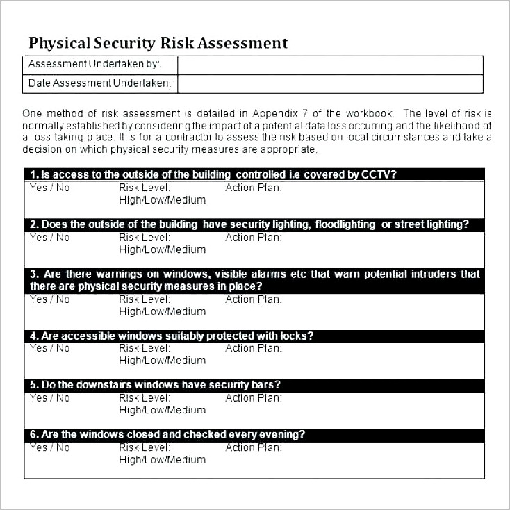 Film Production Risk Assessment Example