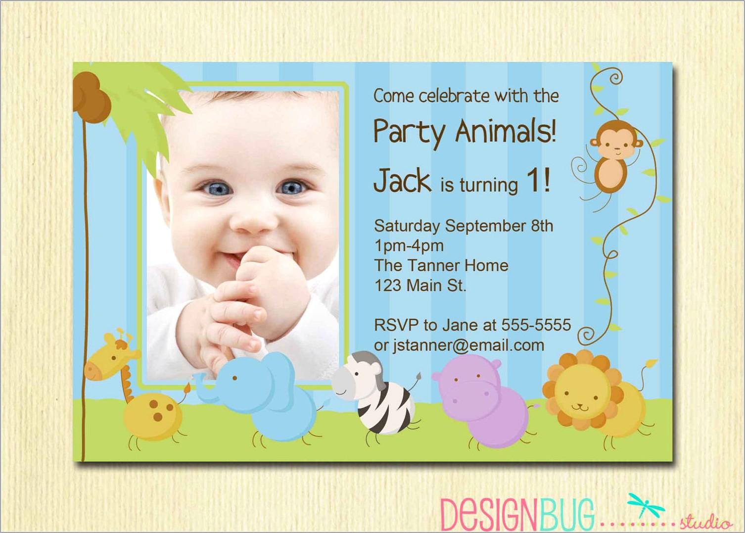 First Birthday Online Invitation Templates Free