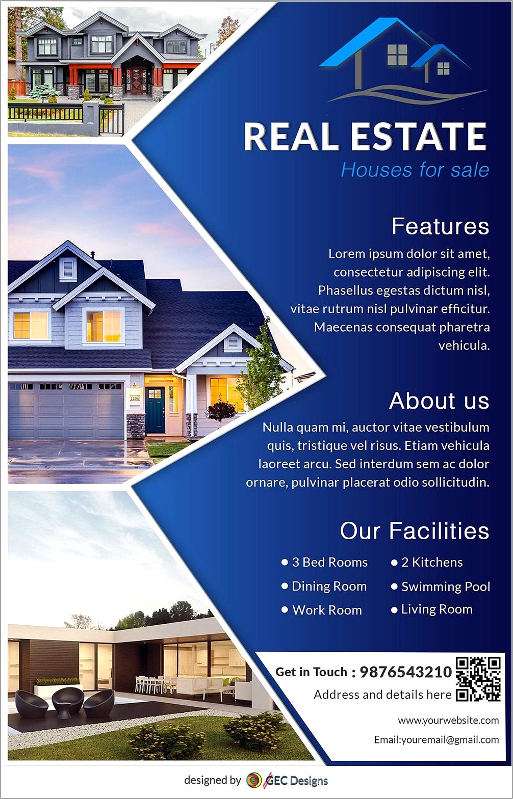 For Sale By Owner House Flyer Template