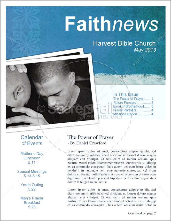 Free Church Newsletter Templates Word