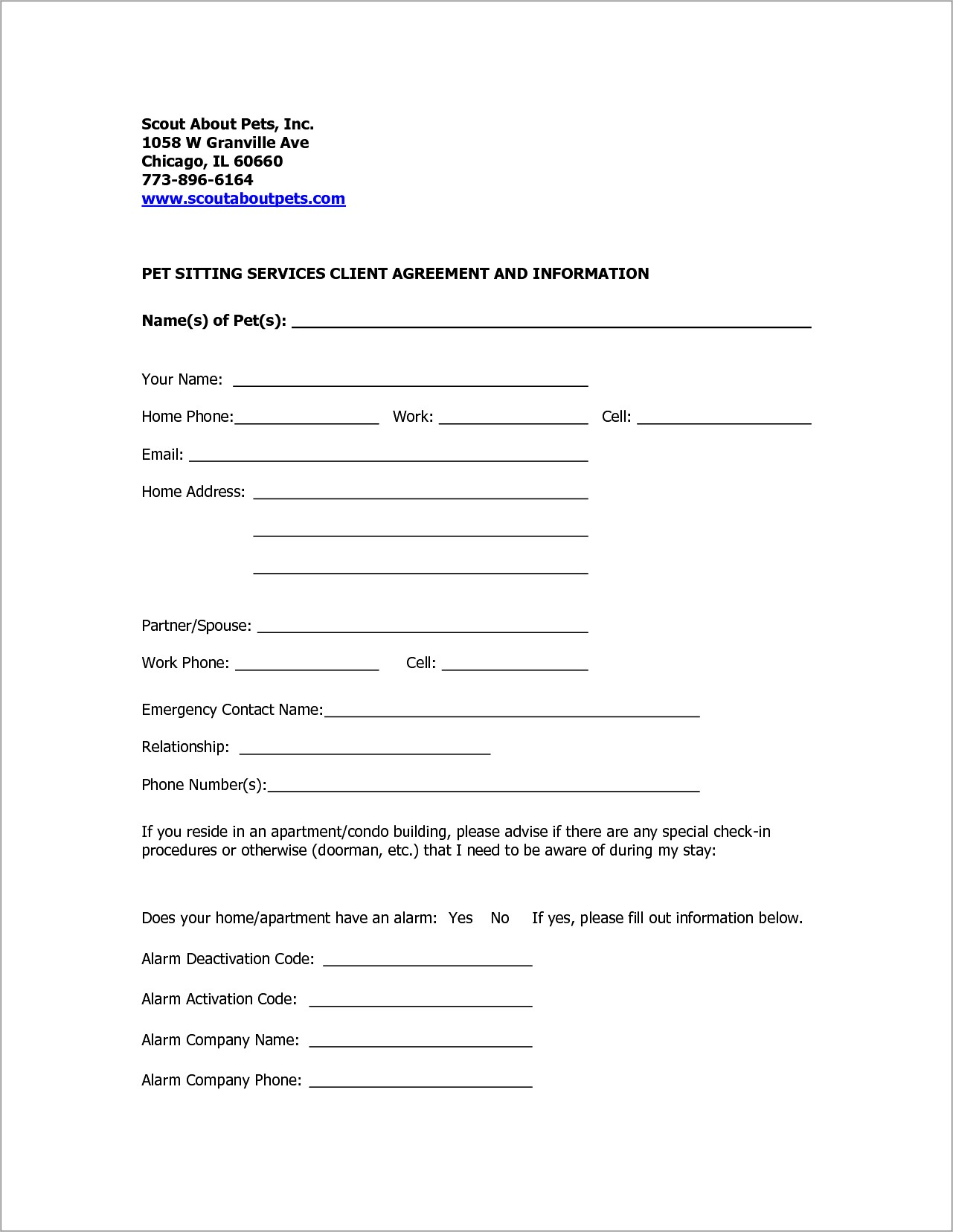 Free Dog Boarding Contract Template Uk