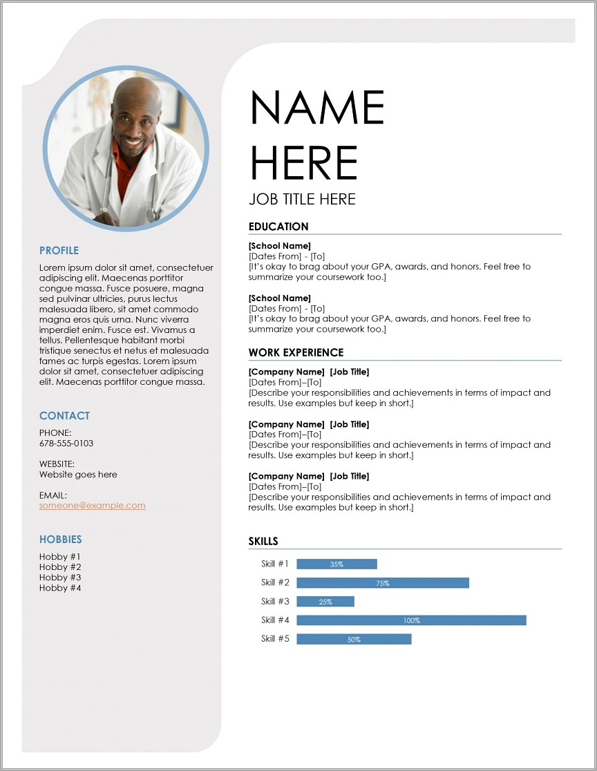 Free Downloadable Modern Resume Templates For Word