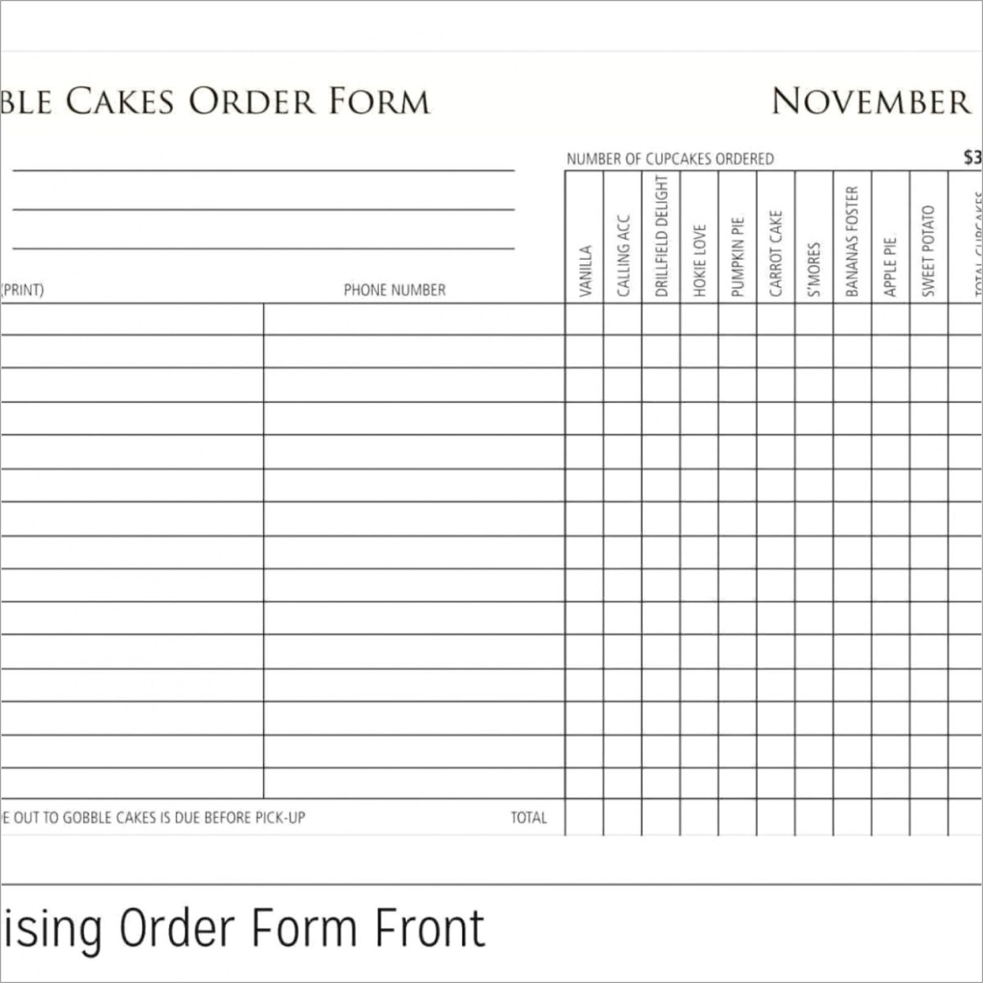 Free Fundraiser Order Form Template Word