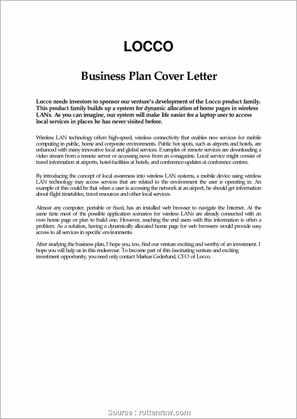 Free Funeral Home Business Plan Template